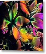 Orange Flowers Metal Print by Doris Wood