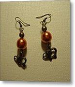 Orange Gold Elephant Earrings Metal Print by Jenna Green