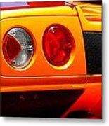 Orange Lamborghinni  Metal Print