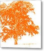 Orange Oak Metal Print