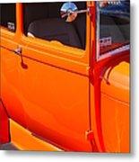 Orange Passenger Door Metal Print