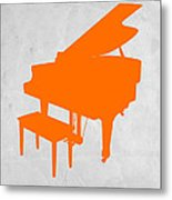 Orange Piano Metal Print