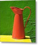 Orange Pitcher Metal Print by Garry Gay