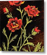 Orange Poppies II Metal Print