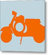 Orange Scooter Metal Print