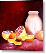 Orange Still Life Metal Print by Carola Ann-Margret Forsberg