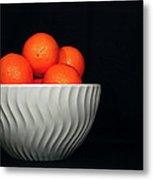 Orange Still Life Metal Print