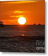 Orange Sunset I Metal Print