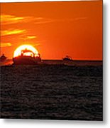 Orange Sunset IIi Metal Print