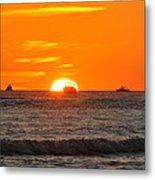 Orange Sunset V Metal Print