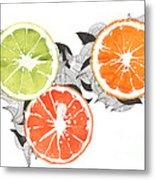 Orange Metal Print by Viki Vehnovsky