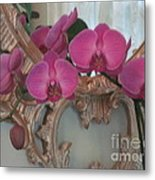 Orchards Blooming Infront Of Mirror Metal Print