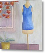 Orchid And Mannequin Metal Print