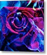 Orchid Rose Metal Print
