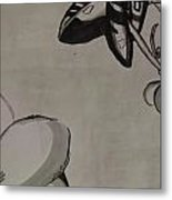 Orchid Scroll 5 Metal Print