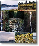 Oregon Collage From Sept 11 Pics Metal Print