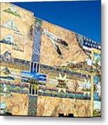 Oregon History Mural 2 Metal Print