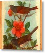 Oregon Snow Bird Trading Card Metal Print