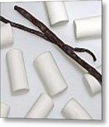 Organic Marshmallows With Vanilla Metal Print