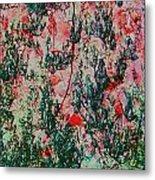 Oriental Brush Work Metal Print
