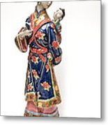 Oriental Lady And Child Metal Print