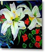 Oriental Lily Metal Print