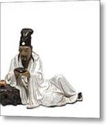 Oriental Warrior At Rest Metal Print