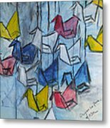 Origami For Peace Metal Print by Michel Croteau