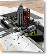 Orion-drive Spacecraft On A Remote Metal Print by Rhys Taylor