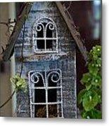 Ornamental Bird House Metal Print