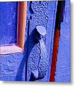 Ornate Blue Handle 2 Metal Print