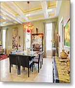 Ornate Dining Room Metal Print by Skip Nall