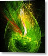 Ornate Emerald Green Drop Metal Print