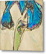 Ornate Iris Metal Print