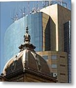 Ornate Old And Plain New Metal Print