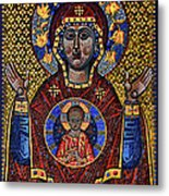 Orthodox Icon Of The Mosaic Metal Print