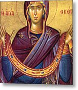 Orthodox Icon Virgin Mary Metal Print