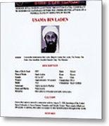 Osama Bin Laden, Militant Islamist Metal Print by Everett
