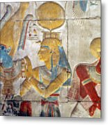 Osiris And Isis, Abydos Metal Print