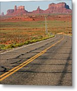 ouest USA route monument valley road Metal Print