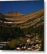 Our Mountains Metal Print