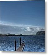 Out Into The Bay Metal Print