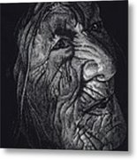 Out Of Greaheadedness Wisdome Comes Forth Metal Print by Yenni Harrison