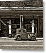 Out Of The Past Sepia Metal Print
