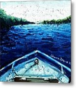 Out On The Boat Metal Print