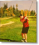 Out On The Course Metal Print