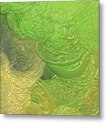 Out On The Green Seas Metal Print