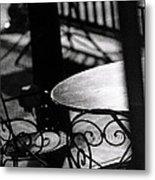 Outdoor Seating Metal Print by Vicki Jauron