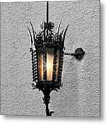 Outdoor Wall Lamp Aglow Metal Print