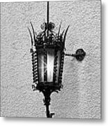 Outdoor Wall Lamp Bw Metal Print